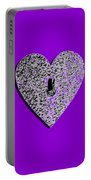 Heart Shaped Lock Purple .png Portable Battery Charger