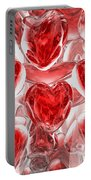 Hearts Afire Abstract Portable Battery Charger