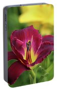 Hearts Afire Daylily Portable Battery Charger