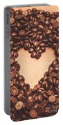 Hearts And Chocolate Drops. Valentines Background Portable Battery Charger