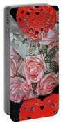 Hearts And Roses Portable Battery Charger