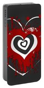 Hearts Graphic 1 Portable Battery Charger