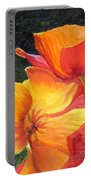 Hearts Of Poppies Portable Battery Charger