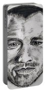 Heath Ledger Charcoal Sketch Portable Battery Charger