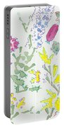 Heather And Gorse Watercolor Illustration Pattern Portable Battery Charger
