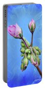 Nature Botanical Floral Pink Flowers Geranium Blooms  Portable Battery Charger