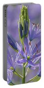 Heavenly Blue Camassia Portable Battery Charger