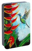 Heavenly Heliconia Portable Battery Charger