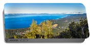 Heavenly South Lake Tahoe View 1 - Right Panel Portable Battery Charger