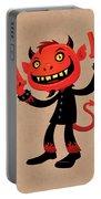 Heavy Metal Devil Portable Battery Charger by John Schwegel