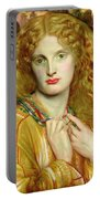 Helen Of Troy Portable Battery Charger by Dante Charles Gabriel Rossetti