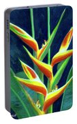Heliconia Flowers #249 Portable Battery Charger