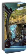 Helicopter On Tasman Arch Portable Battery Charger