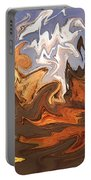 Heavy Weather News - Abstract Modern Art Portable Battery Charger