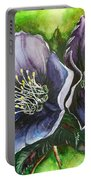 Helleborous Blue Lady Portable Battery Charger