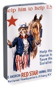 Help The Horse To Save The Soldier Portable Battery Charger
