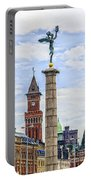 Helsingborg Cityscape Digital Painting Portable Battery Charger