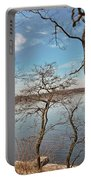 Hempstead Harbor Through The Trees Portable Battery Charger