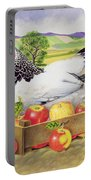 Hen In A Box Of Apples Portable Battery Charger by EB Watts