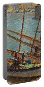 Henri Martin 1860 - 1943 Boats To Collioure Portable Battery Charger