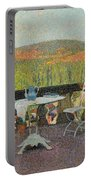 Henri Martin 1860 - 1943 Tea Time On The Terrace Marquayrol Portable Battery Charger