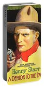 Henry Starr In A Debtor To The Law 1919 Portable Battery Charger