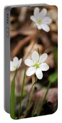 Hepatica Wildflowers Portable Battery Charger