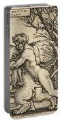 Hercules Killing The Nemean Lion Portable Battery Charger