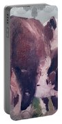 Hereford Cow Calf Portable Battery Charger