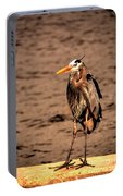 Egret Bad Feather Day Portable Battery Charger