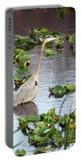 Heron Fishing In The Everglades Portable Battery Charger
