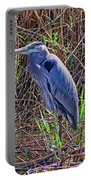 Heron In Marshes Portable Battery Charger
