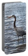Heron On  Lake Guntersville Portable Battery Charger