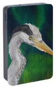 Heron Painting Portable Battery Charger