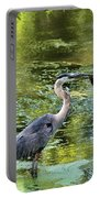 Heron With Fish Portable Battery Charger