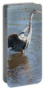 Heron With Gator Portable Battery Charger