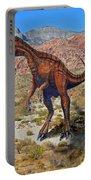 Herrarsaurus In Desert Portable Battery Charger
