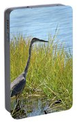 Herron In The Grasses Portable Battery Charger