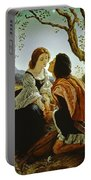 Hesperus The Evening Star Sacred To Lovers Portable Battery Charger by Sir Joseph Noel Paton
