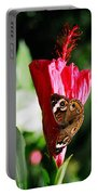Hibiscus Aflutter Portable Battery Charger