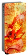 Hibiscus And Bees Portable Battery Charger