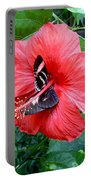 Hibiscus And Butterfly Diners Portable Battery Charger