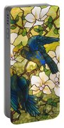 Hibiscus And Parrots Portable Battery Charger