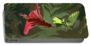 Hibiscus Dark And Light Photopainting 1 Portable Battery Charger