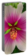 Hibiscus Face Portable Battery Charger