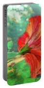 Hibiscus Flame Portable Battery Charger