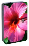 Hibiscus Fly-by Portable Battery Charger