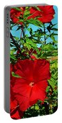 Hibiscus In Naptown Portable Battery Charger
