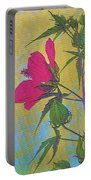 Hibiscus On Brick Portable Battery Charger