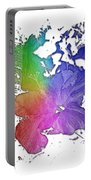Hibiscus S D Z 2 Cool Rainbow 3 Dimensional Portable Battery Charger